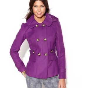 NWT Pink Envelope Purple Fully Lined Peacoat